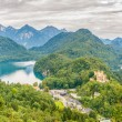 View at the Hohenschwangau castle and Schwansee — Stock Photo #54088881