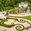Linderhof palace with fountain and garten — Stock Photo #54100683