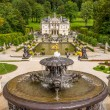 Linderhof palace with fountains — Stock Photo #54100741