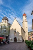 Frauenkirche in Feldkirch — Stock Photo