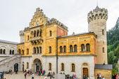 Courtyard of Neuschwanstein castle. — Stock Photo