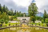 Fountain near Linderhof palace — Stock Photo