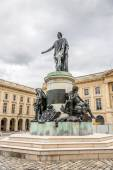 Statue Louis XV at Place Royale in Reims — Stock Photo
