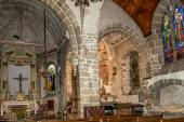 Inside church of Mont Saint-Michele — Stock Photo