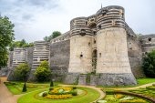 Bastions of fortress in Angers — Stock Photo