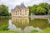 Chateau Azay le Rideau with moat — Stock Photo