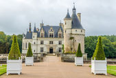 Entrance to chateau Chenonceau — Stock Photo