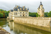 Chateau of Chenonceau with moat — Stock Photo