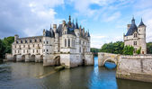 Chateau of Chenonceau with river Cher — Zdjęcie stockowe