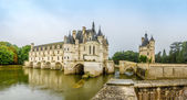 Chateau of Chenonceau with river Cher — Stock Photo