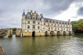 Chateau of Chenonceau from west side — Stock Photo