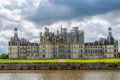 Chateau Chambord with moat — Stock Photo