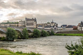 Chateau Amboise on the river Loire — Stock Photo