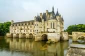 The chateau Chenonceau, on the river Cher — Stock Photo