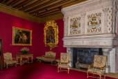 Inside chamber in Chenonceau chateau  — Stock Photo