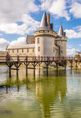 Chateau of Sully sur Loire with moat — Stock fotografie