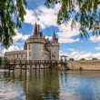 View at the chateau Sully sur Loire across moat — Stock Photo #55232385
