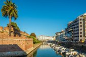 Wall of New Fortress in Livorno — Stock Photo