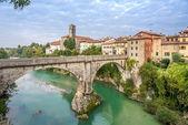 Diavolo Bridge with Cividale del Friuli — Stock Photo