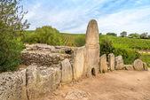 Coddu Vecchiu - Giants grave near the nuraghe Prisgiona — Stock Photo