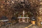 Inside chapel near church Nostra Signora di Tergu — Стоковое фото