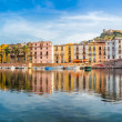 Panoramic view at the Bosa in Sardinia — Stock Photo #57509975