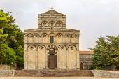 Facade of church San Pietro di Sorres in Borutta — Foto de Stock