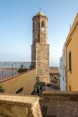 Bell tower of Cathedral Sant Antonio Abate in Castelsardo — Foto de Stock