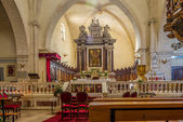 Inside of cathedral Sant Antonio Abate in Castelsardo — Stock Photo