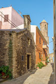 In the streets of Castelsardo Old Town — Stock Photo