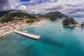 Aerial photography Parga Grecce — Stock Photo