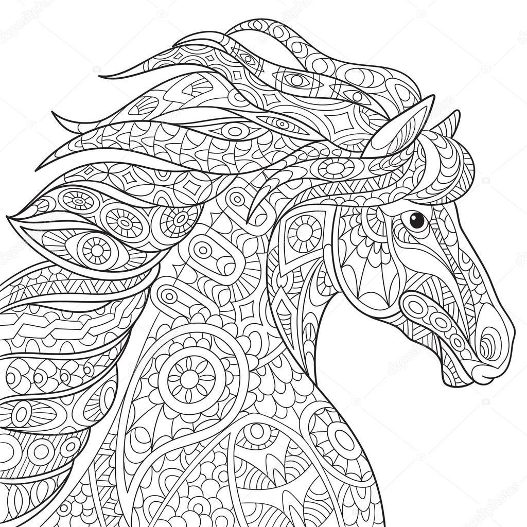 pony coloring pages for grownups - photo#21