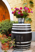 Old wooden barrel. — Stock Photo