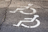 Symbol of parking for disabled person. — Stock Photo