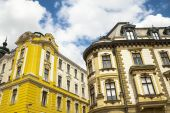 Historic buildings in the city. — Zdjęcie stockowe