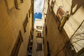 The old streets of the ancient town. — Stock Photo