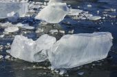 Cool blue ice sheets. — Stock fotografie