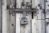 Key lock on the door. — Fotografia Stock
