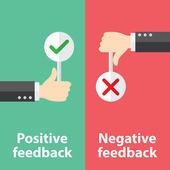 Feedback positivo e negativo — Vetor de Stock