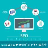 SEO infographic — Stock Vector
