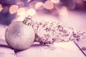 Closeup of christmas ornaments — Stock Photo