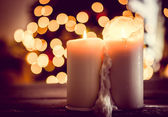 Holiday candles — Stock Photo