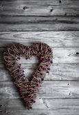 Valentines day rustic ornament — Stock Photo