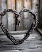 Valentines day rustic ornament — Stockfoto