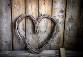 Valentines day rustic ornament — Stock Photo