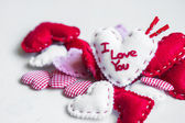 Valentines day ornaments — Stock Photo