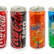 Thailand, Bangkok - June 6, 2014: coca cola, fanta, and sprite c — Stock Photo #54502385