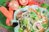 Thai food styles: seafood Spicy Salad — Stock Photo