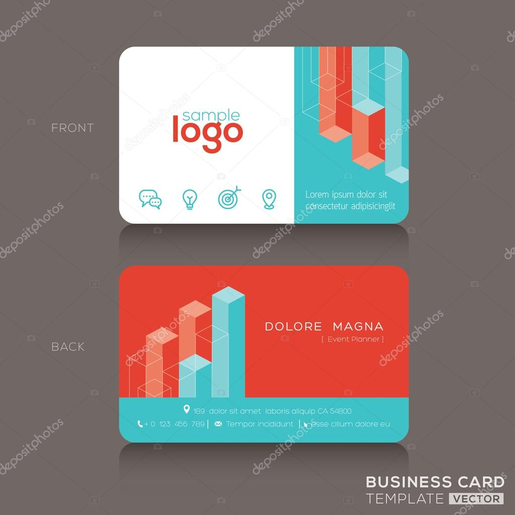modern trendy business card design template — stock vector
