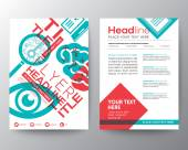 Education Brochure Flyer design Layout template in A4 size — Stock Vector